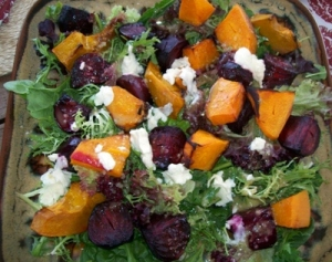 Beetroot, Butternut and Feta Salad
