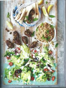 Lamb Kofte, Pitta and Greek Salad