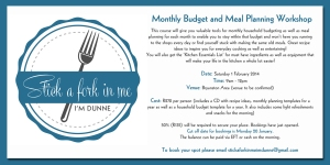 Monthly Budget and Meal Planning Workshop ad