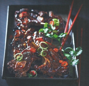 Sweet and Sticky, aisian style lamb chops pic